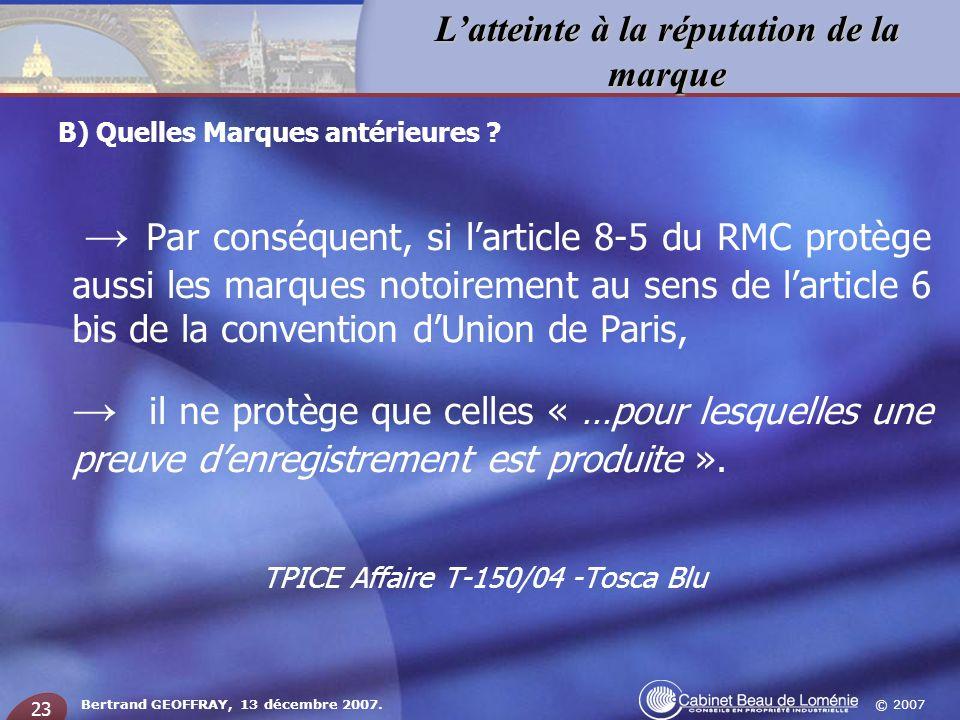 TPICE Affaire T-150/04 -Tosca Blu