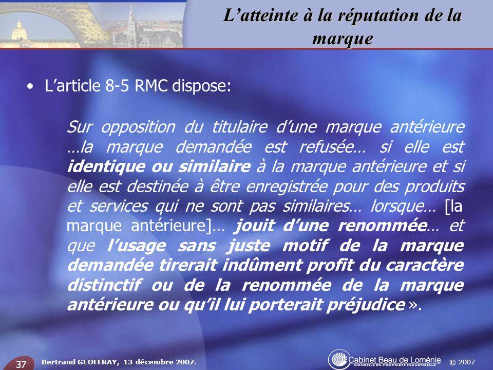 L'article 8-5 RMC dispose: