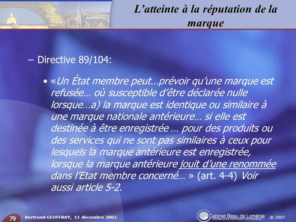 Directive 89/104: