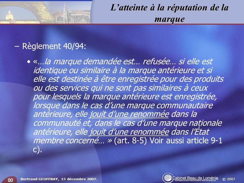 Règlement 40/94: