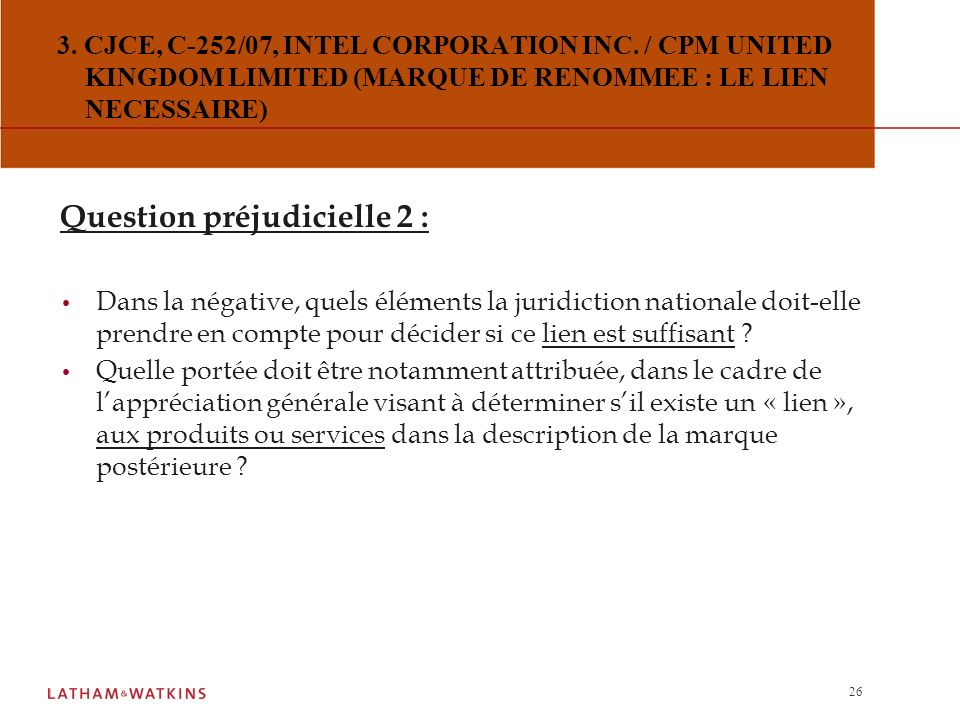 Question préjudicielle 2 :