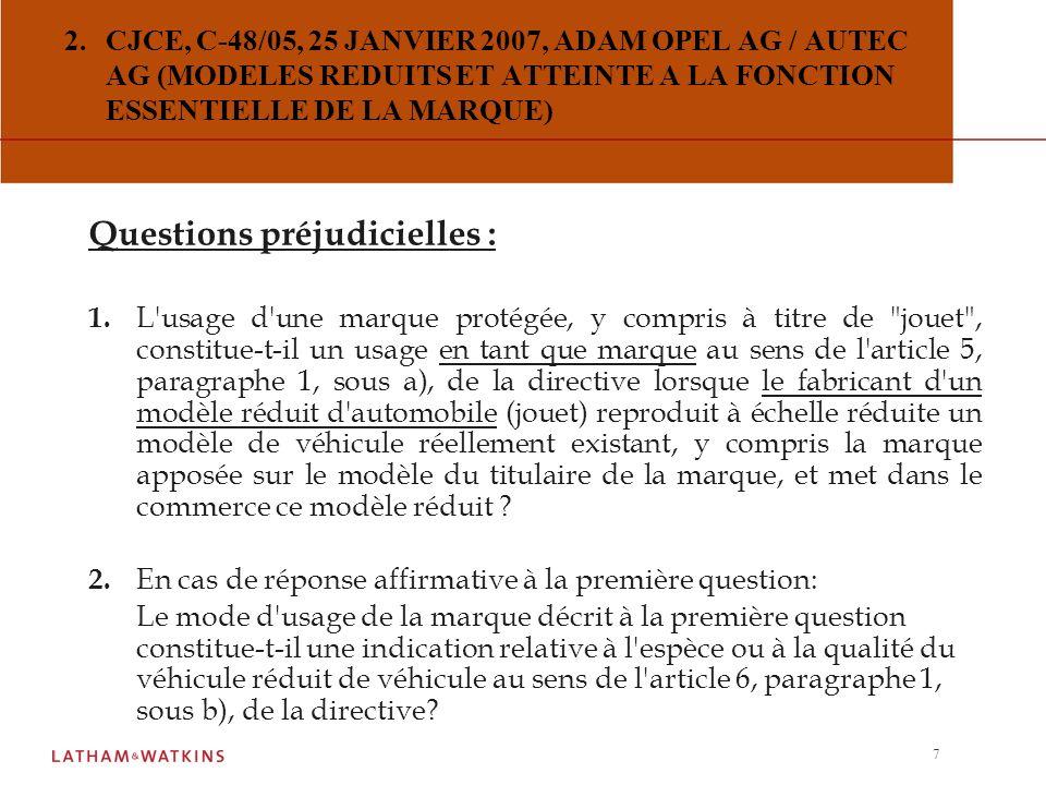 Questions préjudicielles :