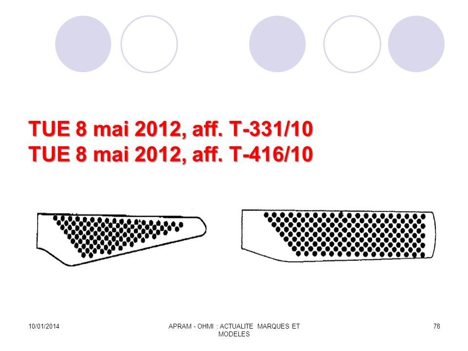 TUE 8 mai 2012, aff. T-331/10 TUE 8 mai 2012, aff. T-416/10