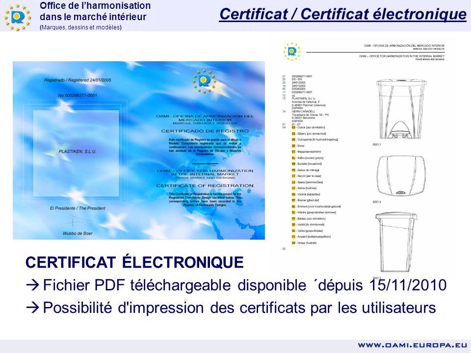 Certificat / Certificat électronique