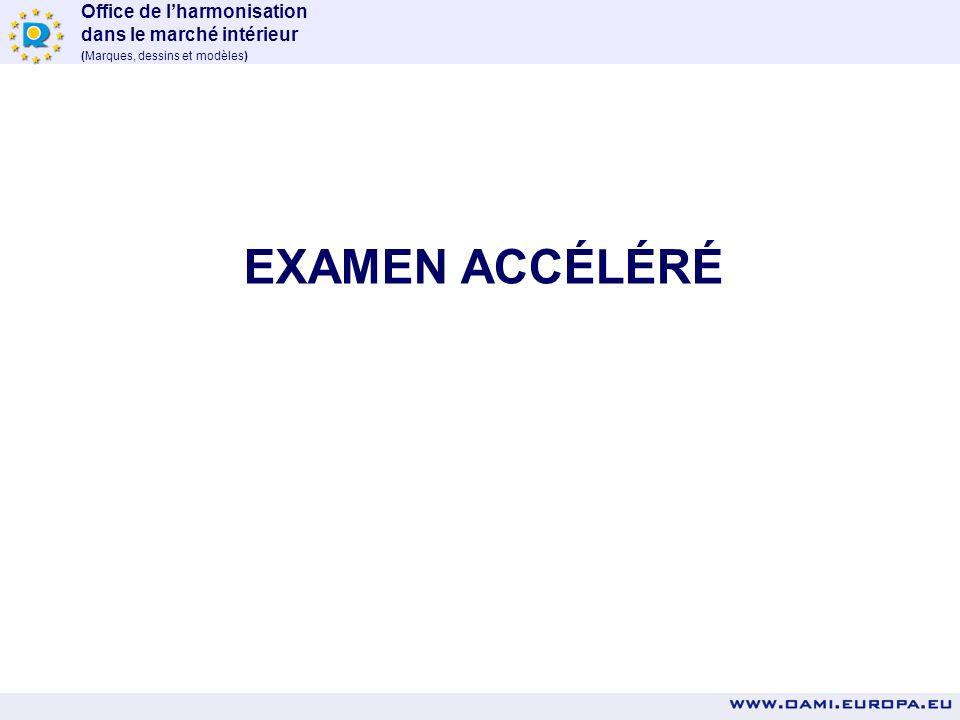 EXAMEN ACCÉLÉRÉ