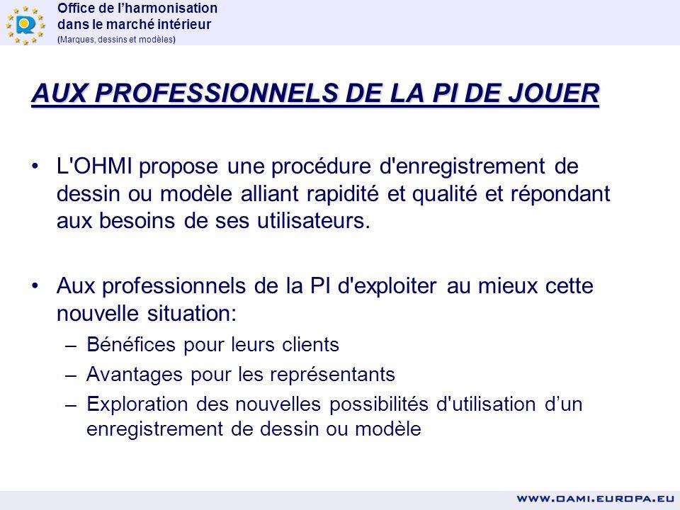 AUX PROFESSIONNELS DE LA PI DE JOUER