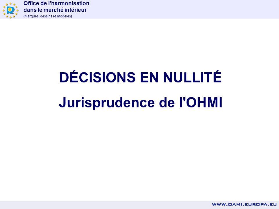 Jurisprudence de l OHMI