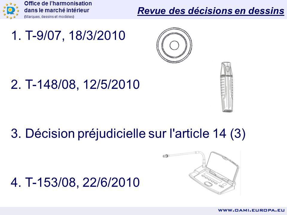 Décision préjudicielle sur l article 14 (3)