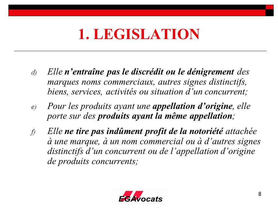 1. LEGISLATION