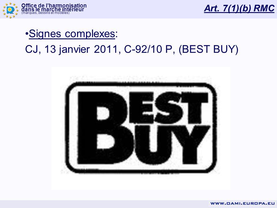 CJ, 13 janvier 2011, C-92/10 P, (BEST BUY)