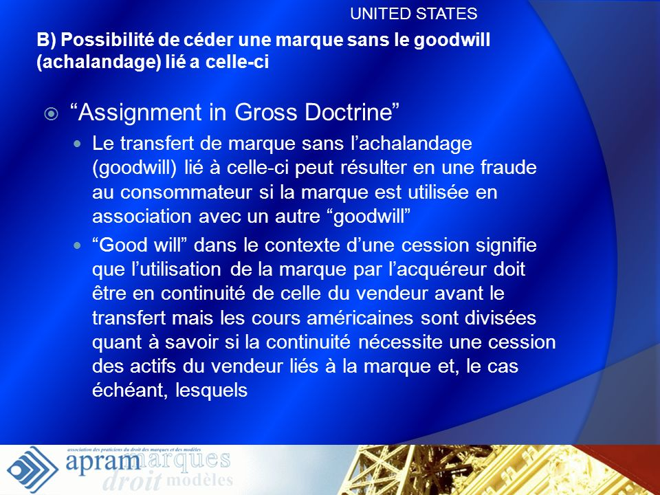 Assignment in Gross Doctrine