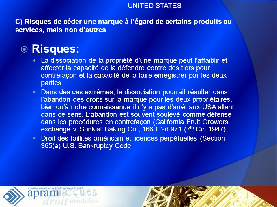 Risques: UNITED STATES