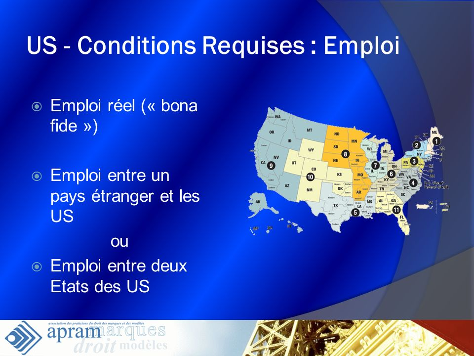 US - Conditions Requises : Emploi
