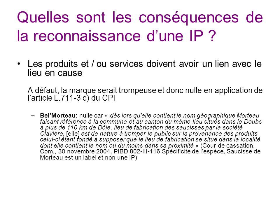 Quelles sont les conséquences de la reconnaissance d'une IP