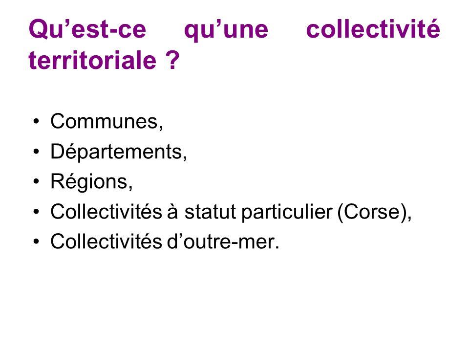 Qu'est-ce qu'une collectivité territoriale