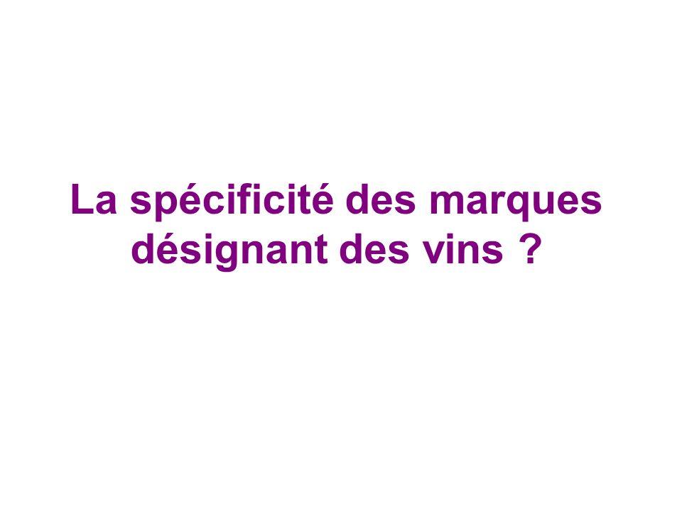 La spécificité des marques désignant des vins