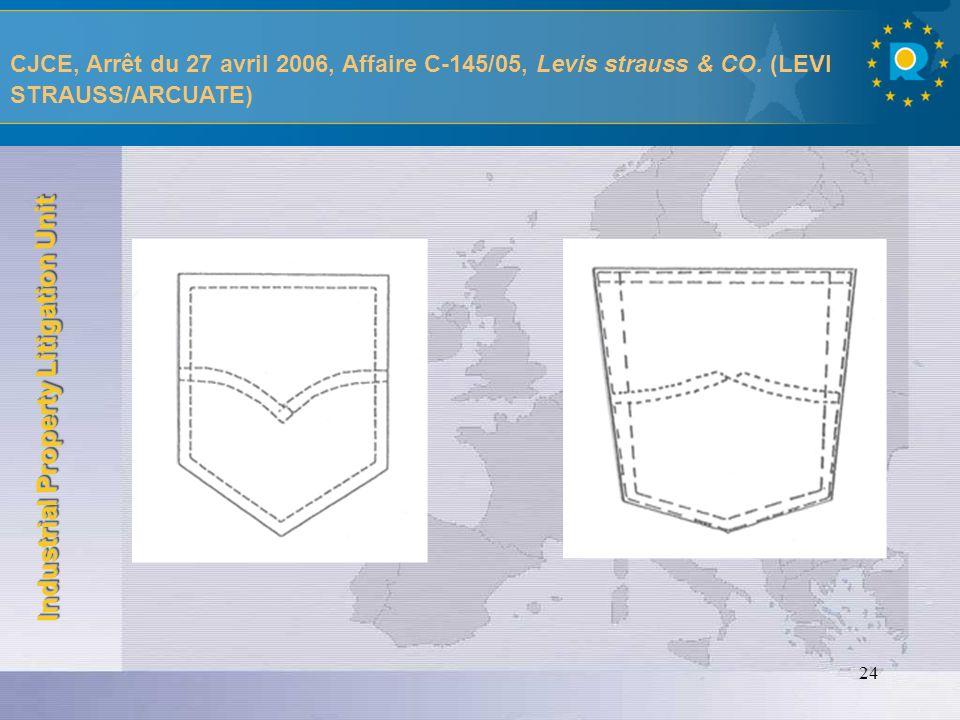 CJCE, Arrêt du 27 avril 2006, Affaire C-145/05, Levis strauss & CO
