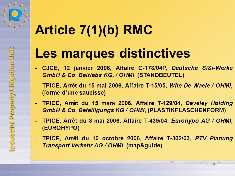 Les marques distinctives