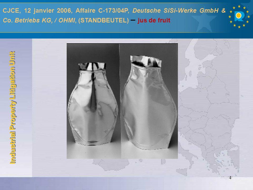 CJCE, 12 janvier 2006, Affaire C-173/04P, Deutsche SiSi-Werke GmbH & Co.