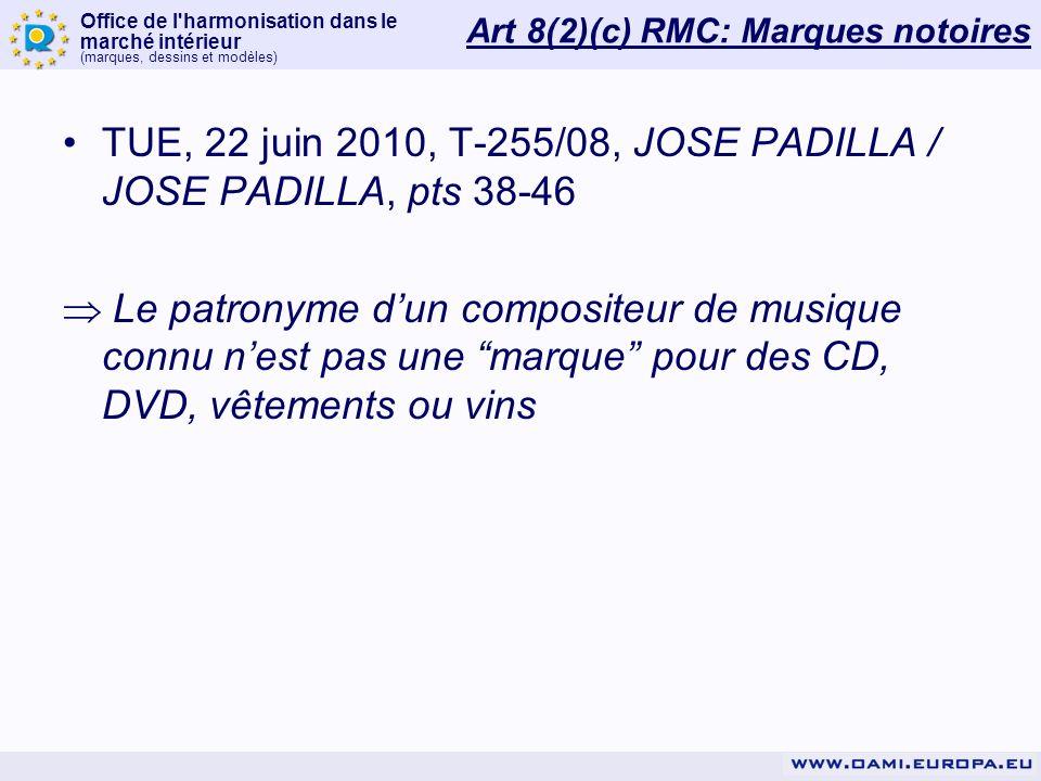 Art 8(2)(c) RMC: Marques notoires