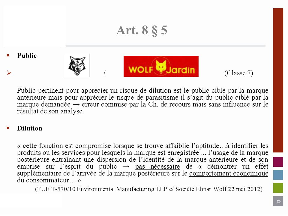 Art. 8 § 5 Public. / (Classe 7)