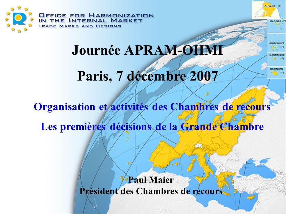 Journée APRAM-OHMI Paris, 7 décembre 2007