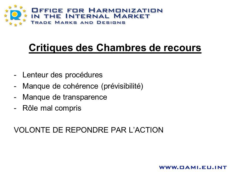 Critiques des Chambres de recours