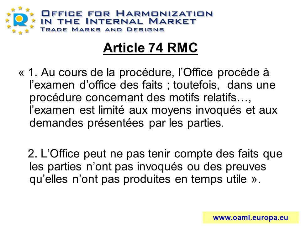 Article 74 RMC