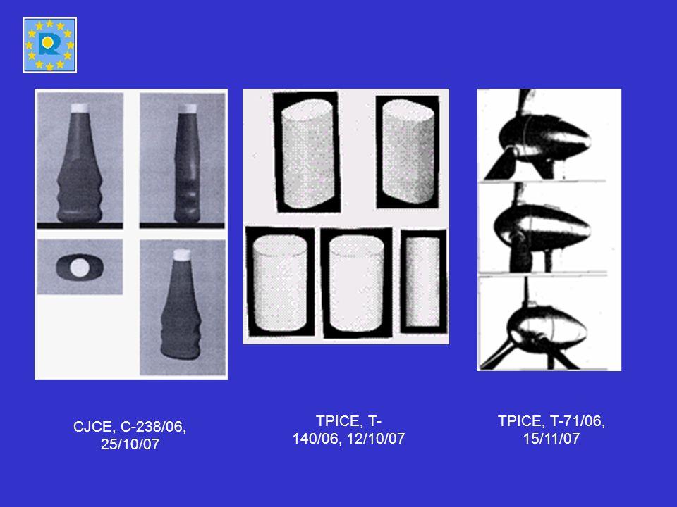 TPICE, T-140/06, 12/10/07 TPICE, T-71/06, 15/11/07 CJCE, C-238/06, 25/10/07