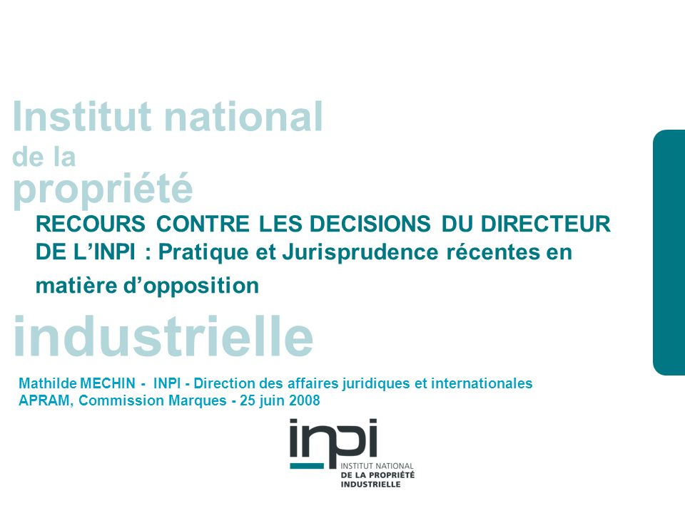 industrielle Institut national propriété de la