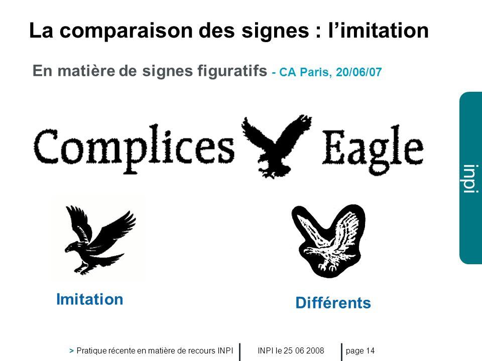 La comparaison des signes : l'imitation