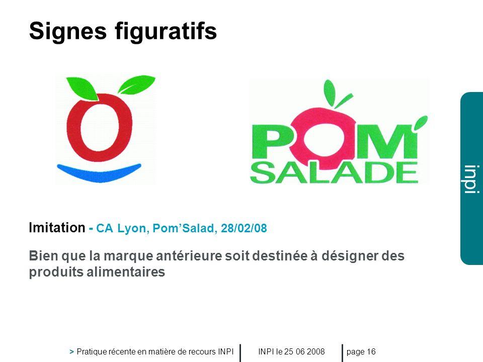 Signes figuratifs Imitation - CA Lyon, Pom'Salad, 28/02/08
