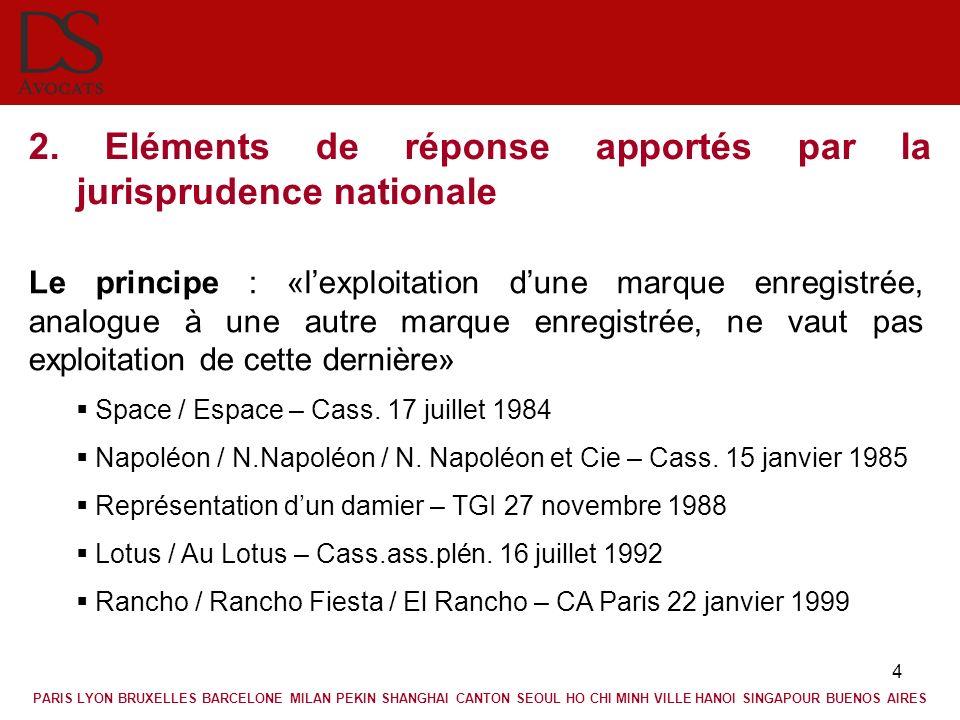 2. Eléments de réponse apportés par la jurisprudence nationale