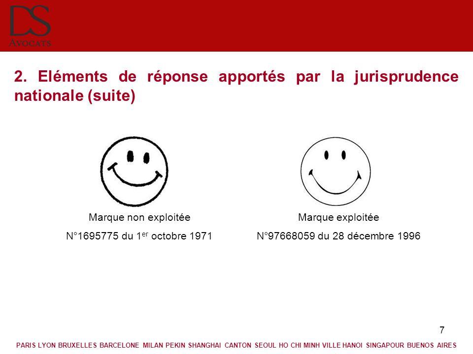 2. Eléments de réponse apportés par la jurisprudence nationale (suite)