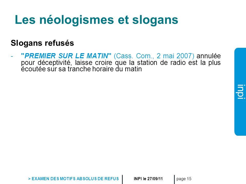 Les néologismes et slogans