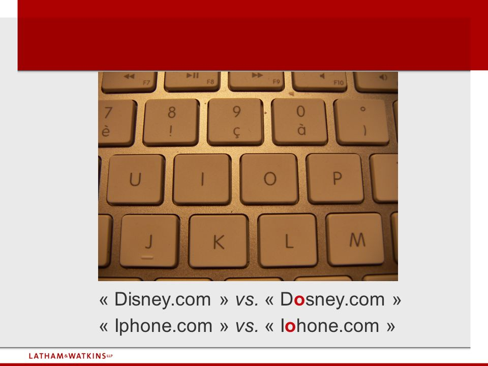 « Disney.com » vs. « Dosney.com »