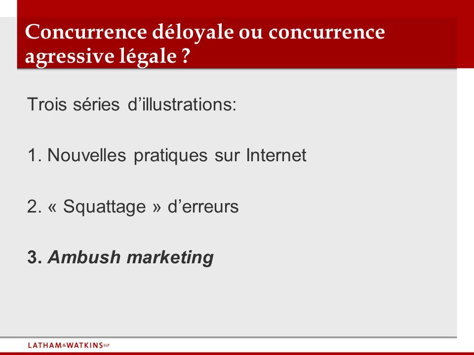 Concurrence déloyale ou concurrence agressive légale