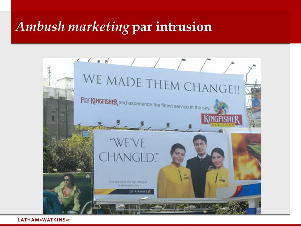Ambush marketing par intrusion