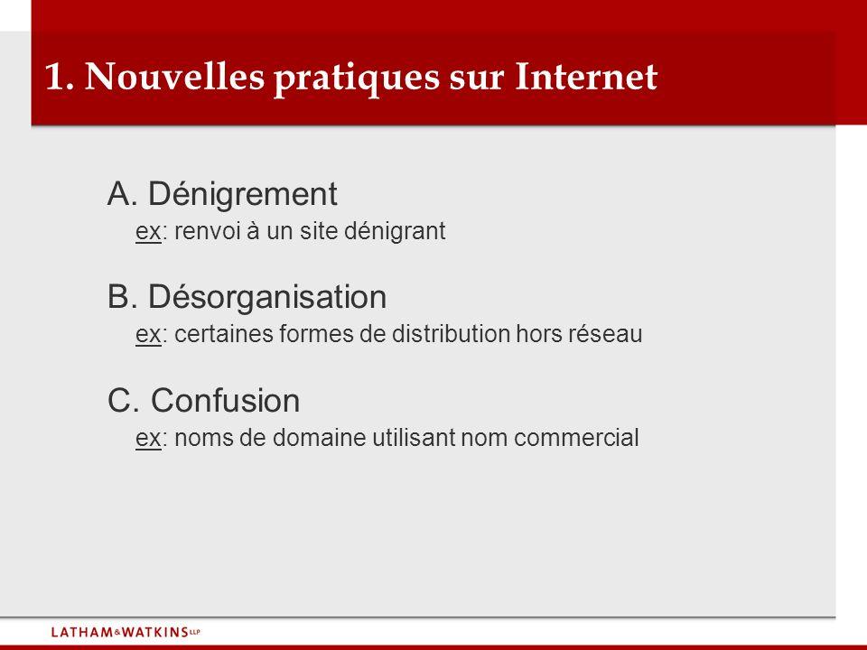 1. Nouvelles pratiques sur Internet
