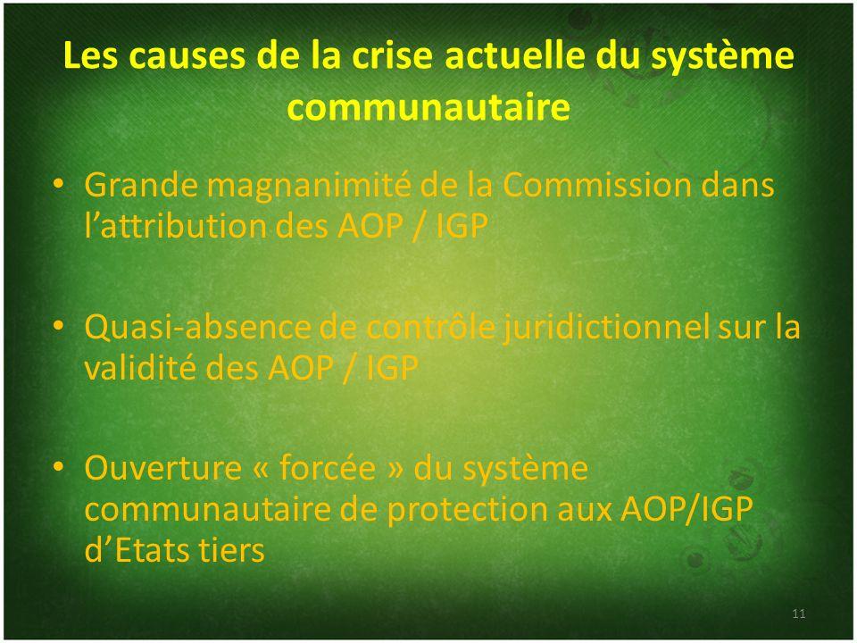 Les causes de la crise actuelle du système communautaire