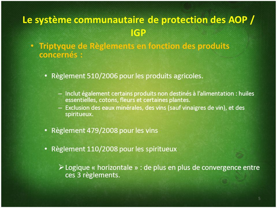 Le système communautaire de protection des AOP / IGP
