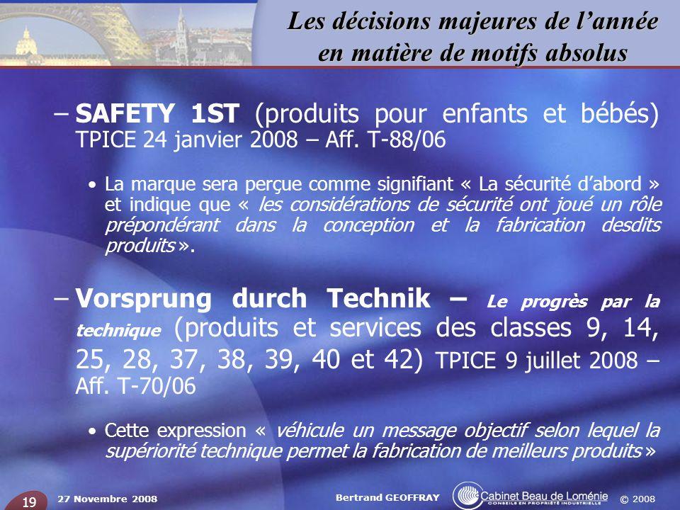 SAFETY 1ST (produits pour enfants et bébés) TPICE 24 janvier 2008 – Aff. T-88/06
