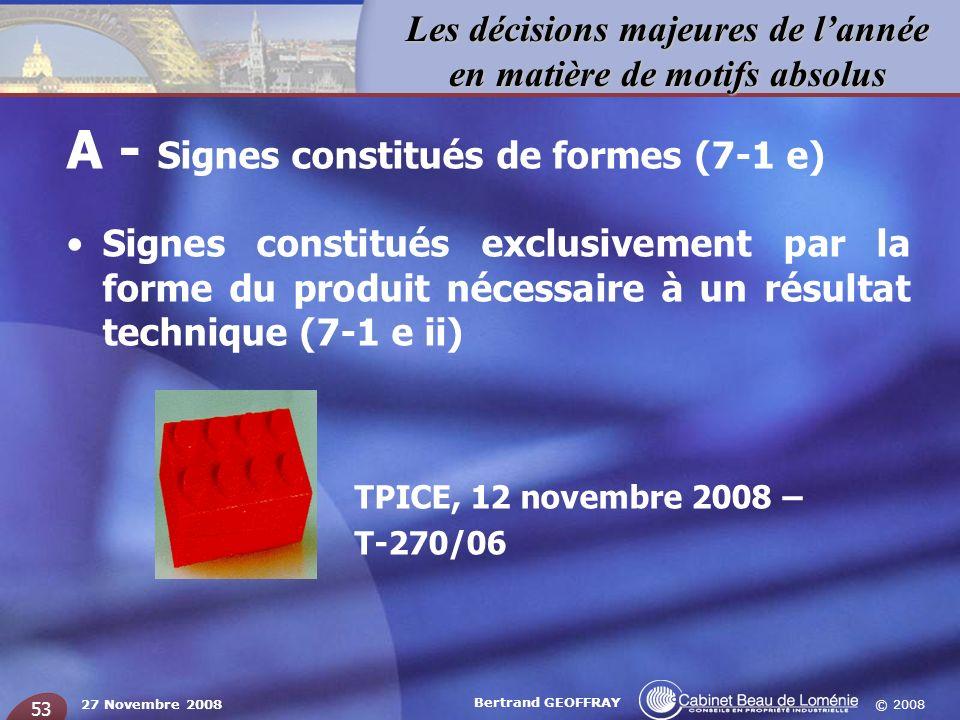 A - Signes constitués de formes (7-1 e)