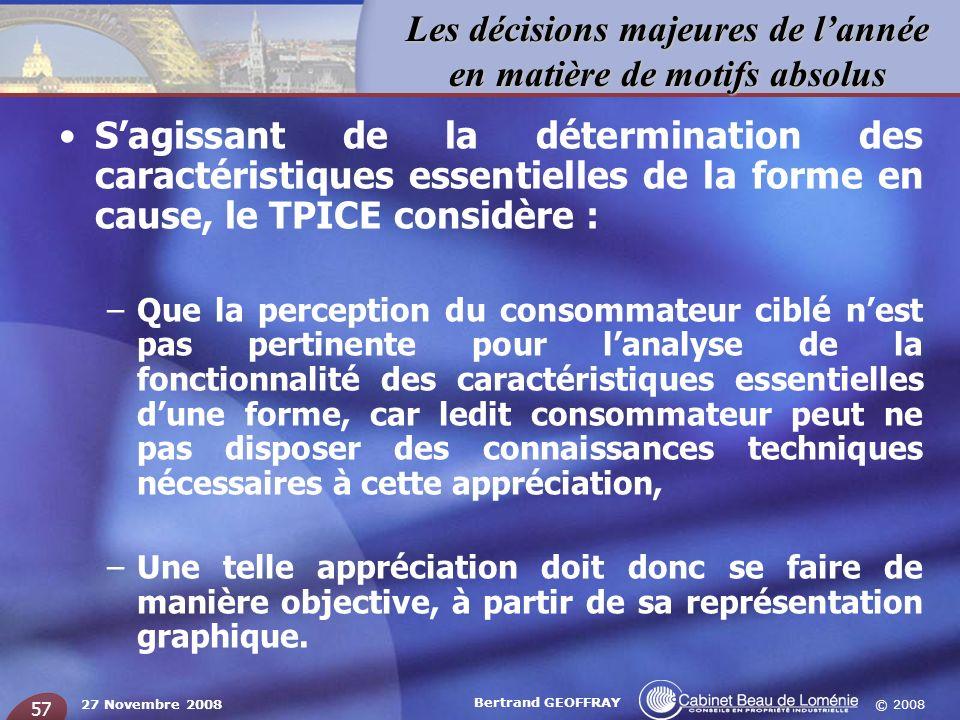 S'agissant de la détermination des caractéristiques essentielles de la forme en cause, le TPICE considère :
