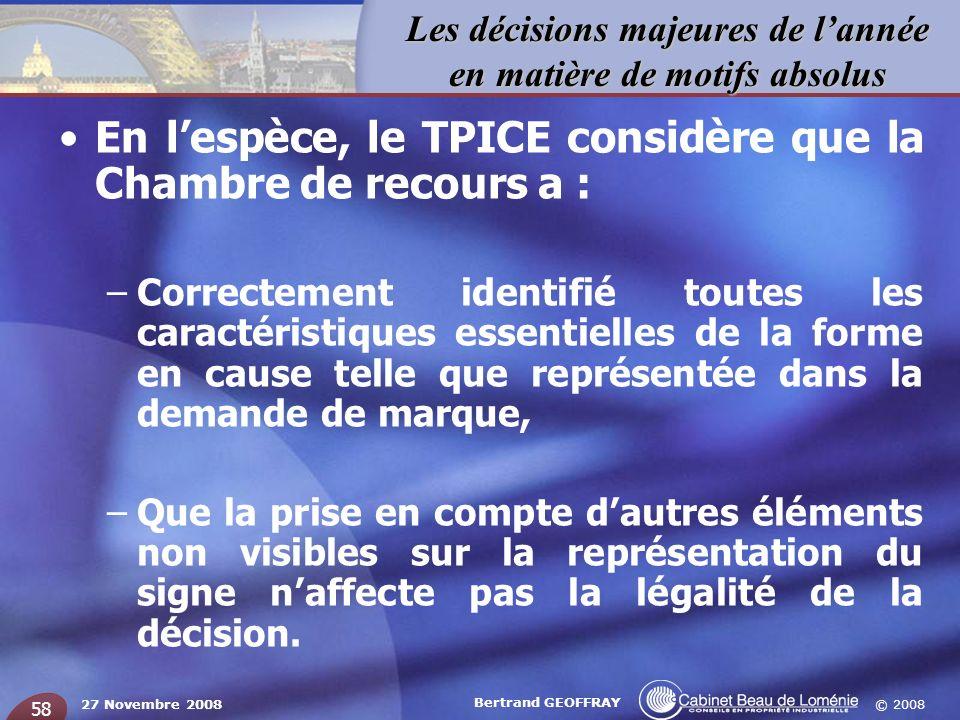 En l'espèce, le TPICE considère que la Chambre de recours a :