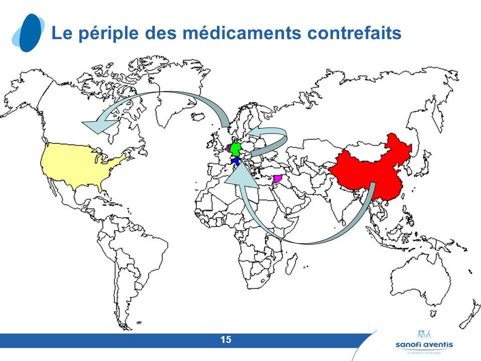 Le périple des médicaments contrefaits