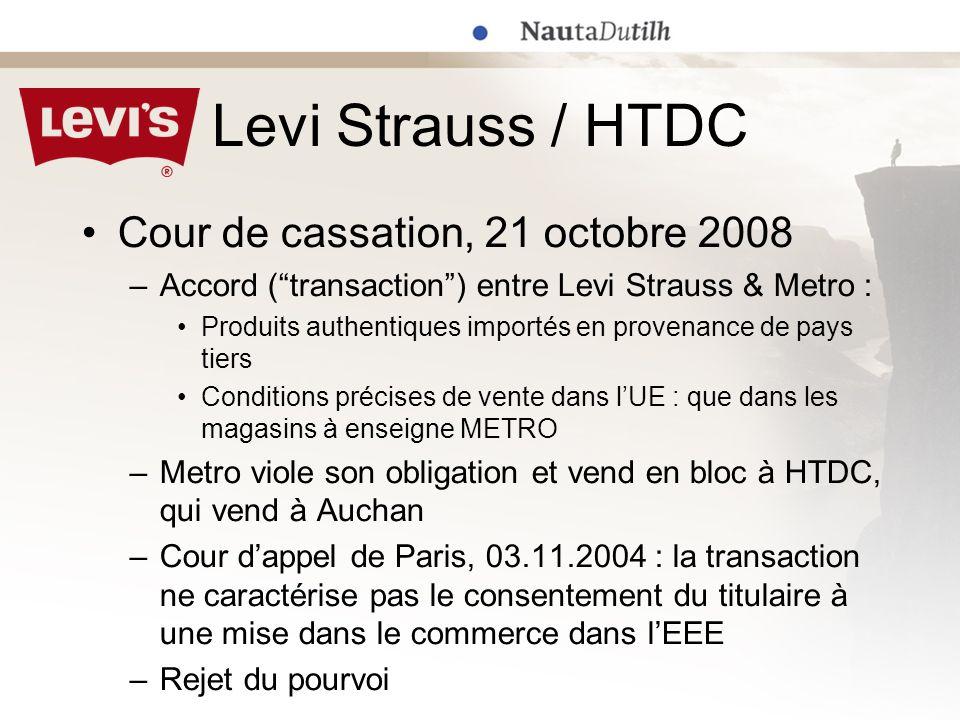 Levi Strauss / HTDC Cour de cassation, 21 octobre 2008