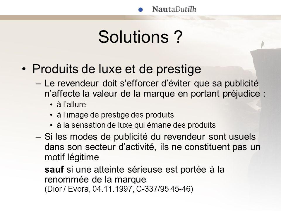 Solutions Produits de luxe et de prestige