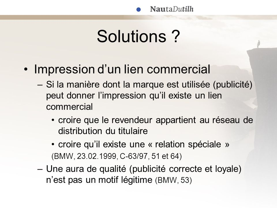 Solutions Impression d'un lien commercial