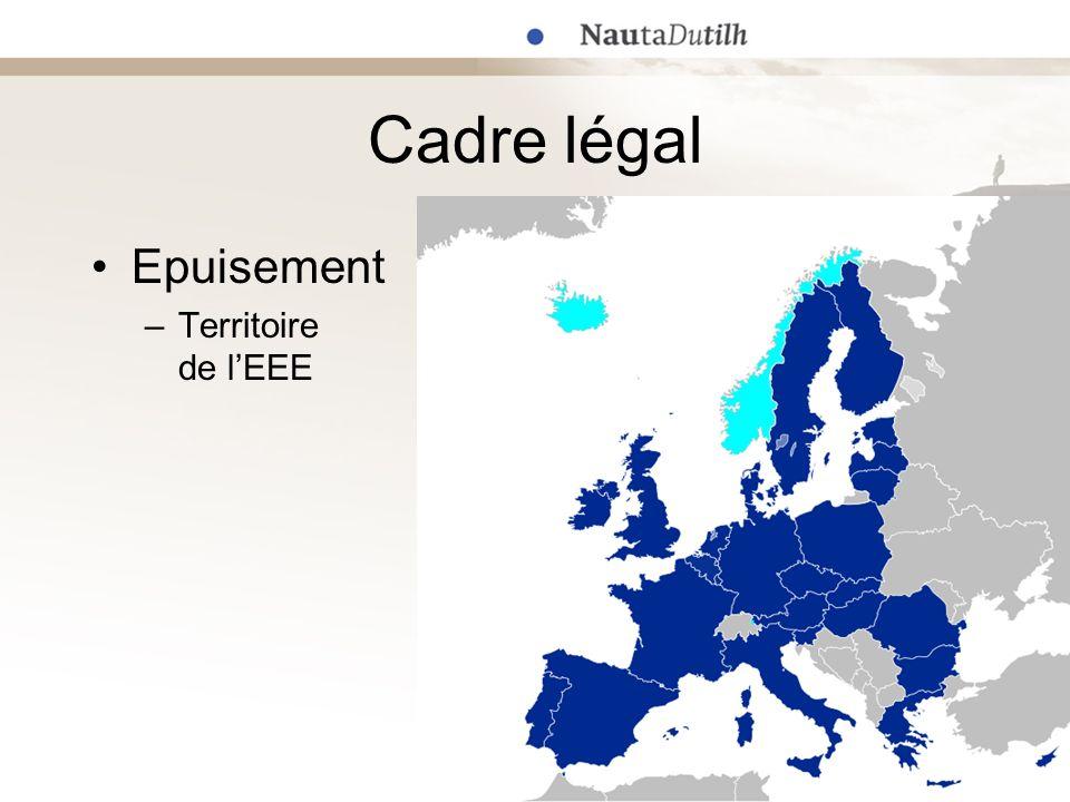 Cadre légal Epuisement Territoire de l'EEE